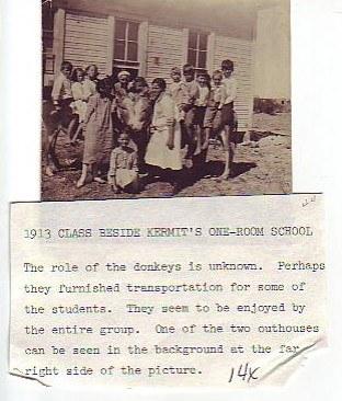 1913 Kermit one room school
